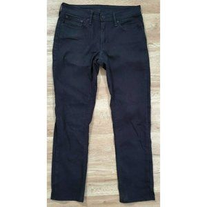 Levi's Mens 511 Slim Fit Stretch Black Jeans 31